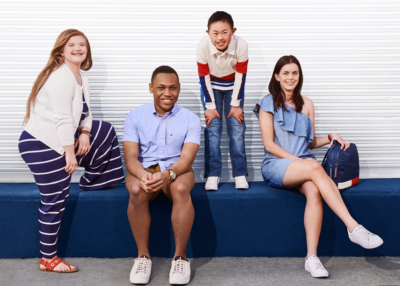 Tommy Hilfiger Adaptive Clothing Line Children and Adults Model the Clothes